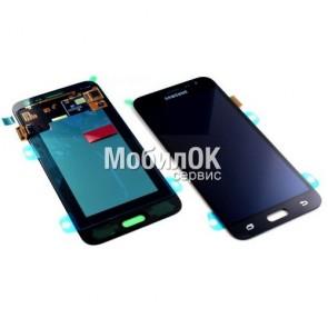 Дисплей для Samsung J320F Galaxy J3 (2016) черный, оригинал (GH97-18414C)