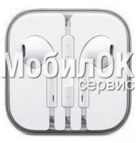 Наушники для iPhone 5 (HF с управлением звуком) в упаковке