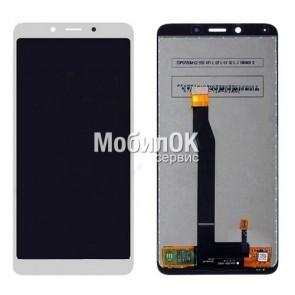 Дисплей для Xiaomi Redmi 6/Redmi 6A белый, с тачскрином