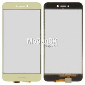 Сенсорный экран для Huawei P8 Lite (2017) золотистый