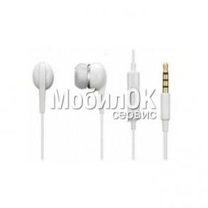 Наушники для Samsung Galaxy белые (3,5 HF с управлением)