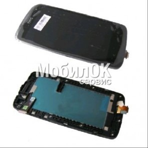 Дисплей для HTC Desire 500 Dual Sim черный, полная сборка, оригинал (80H01613-00)