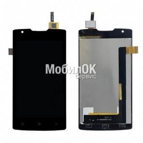 Дисплей для Lenovo A1000 IdeaPhone черный, с тачскрином