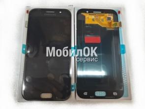 Дисплей для Samsung A520 Galaxy A5 (2017) черный, оригинал (GH97-19733A)