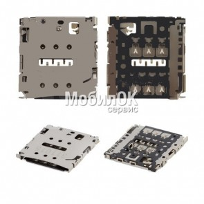 Коннектор SIM-карты для Huawei Ascend P6-U06 (Код: 84268