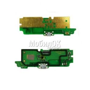 Шлейф для Lenovo A850 коннектора зарядки, с компонентами