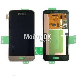 Дисплей для Samsung J120 Galaxy J1 (2016) золотой, в сборе, оригинал (GH97-18224B)